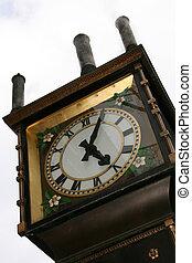 BC,  canada, orologio,  -,  Vancouver,  Gastown, vapore