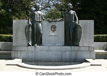 bc, canada, parco, -, vancouver, statua, stanley
