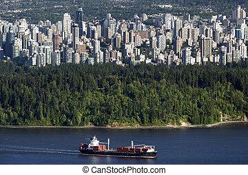 bc, giugno, parco, centro, vancouver, stanley, 2014,...