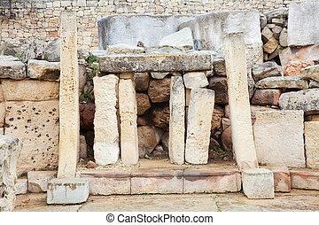 b.c.), néolithique, (3000, tarxien, temples