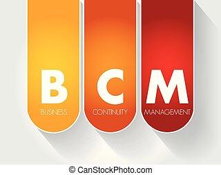 bcm, affari, -, acronimo, continuità, amministrazione
