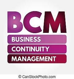 bcm, amministrazione, -, affari, acronimo, continuità