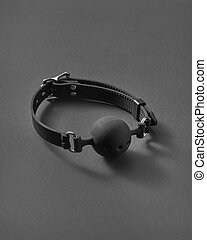 BDSM ball gag with openings. - Sexual attribute for erotic ...