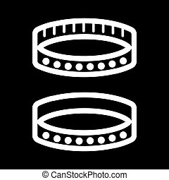 BDSM collar simple vector icon. Black and white illustration of accessory. Outline linear adult icon.