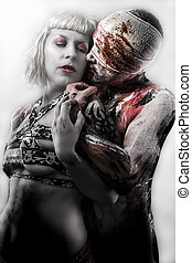 bdsm couple. erotic and sensual concept