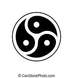 bdsm, emblème, symbole, isolated., logo, sexuel, subculture