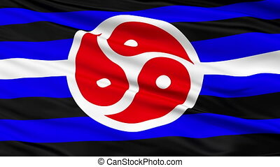 BDSM Rights Close Up Waving Flag - BDSM Rights Flag, Close...