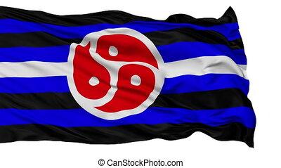 BDSM Tanos Close Up Waving Flag - BDSM Tanos Flag, Close Up...