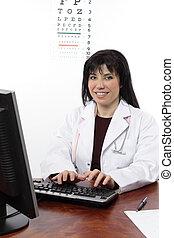 beäugen doktor, computer