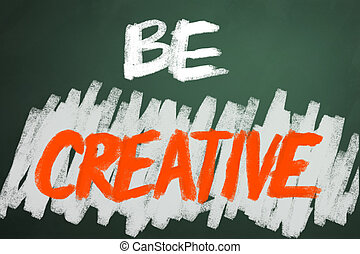 be, יצירתי, מילים, ב, לוח לגיר, backgruond