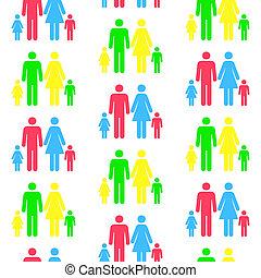 be, שונה, תבנית, seamless, כל, טפס, בן אדם, חזור על, color.(can, צלליות, size)