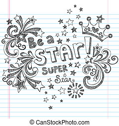 Be A Star Sketchy Doodles Vector