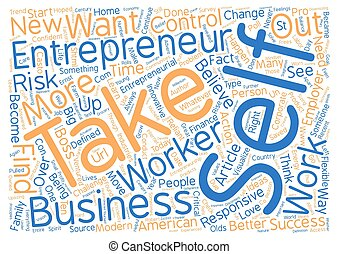 Be an Entrepreneur text background word cloud concept