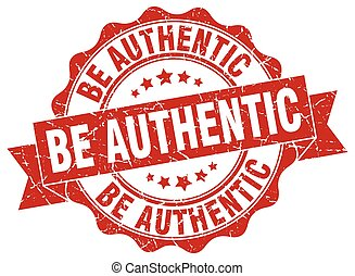 be authentic stamp. sign. seal