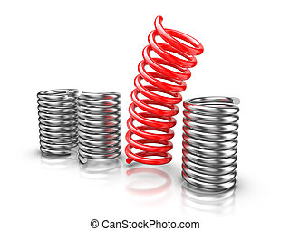 Be different - Springs - Springs isolated on white ...