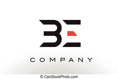 BE Logo.  Letter Design Vector.