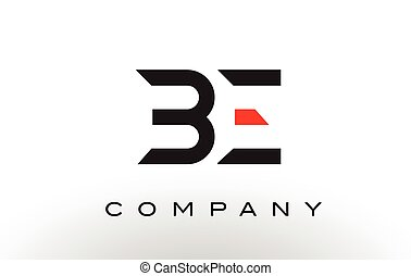 BE Logo.  Letter Design Vector.