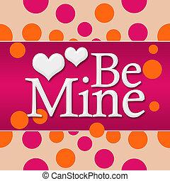 Be Mine Pink Orange Dots Square