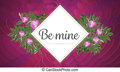 Be mine text on pink background - Animation of the words Be ...