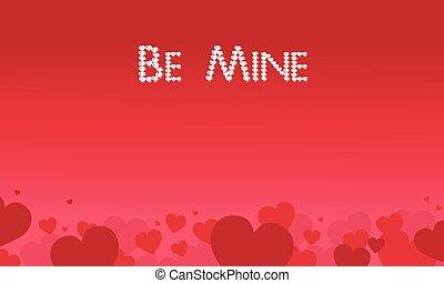 Be Mine valentine theme vector art