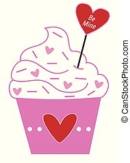Be Mine Valentines Cupcake