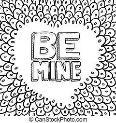 Be Mine Valentine's sketch