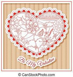 Be my valentine card