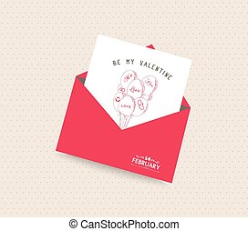 be my valentine day greeting card