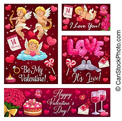 Be my Valentine, hearts love balloons and flowers