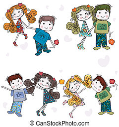 be my valentine - valentine couples, cute girls and boys