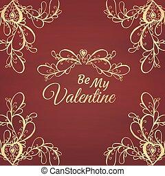 Be my Valentine. Vector illustration