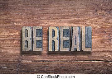 be real wood
