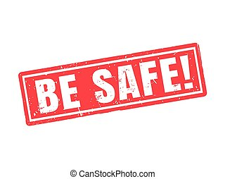 be safe red stamp style