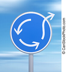 Be special - Roundabout sign - be different concept - 3d...