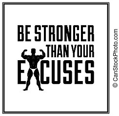 Quote typographical Background - Be stronger than your ...