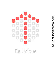 Be unique flat design vector illustration concept