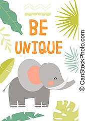 Be Unique motivational poster design