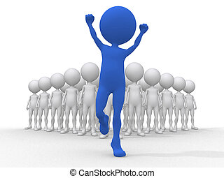 (be, zakelijk, achtergrond, vrijstaand, team, bewindvoering, different), concept, witte
