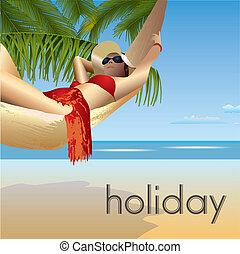 beach 5 - tropic beach palms and hammock