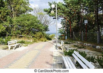 Beach access - Path to the Beach at the Baltic Sea in Jurata...
