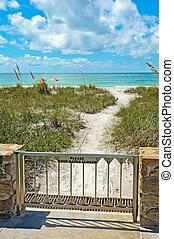 Beach Access  - Gate at pathway to Beach Access