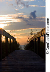 Beach Access Ramp at Sunrise