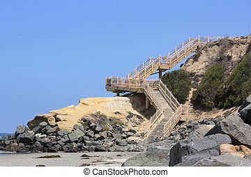Beach Access Stairs - Access Stairs to Public Beach at Del...