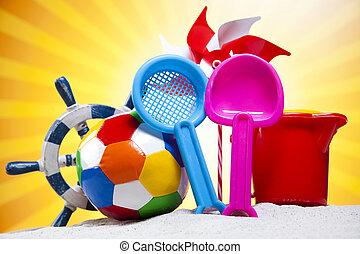 Beach accessories, summer vacation