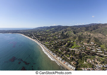 Beach Aerial Malibu California