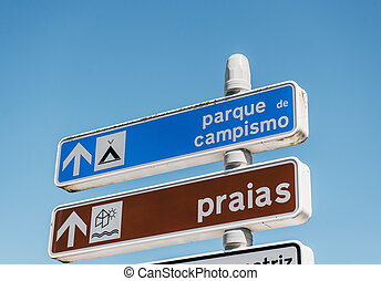 Beach and camping access sign - Beach and camping access...
