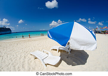 Beach and Crystal Clear Waters of Grand Cayman - Beach and...