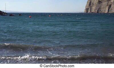 Meta di Sorrento, southern Italy - beach and harbour of Meta...