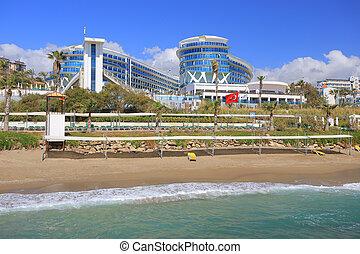 Beach and resort