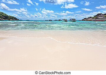 Beach and sea of Similan Islands in Thailand